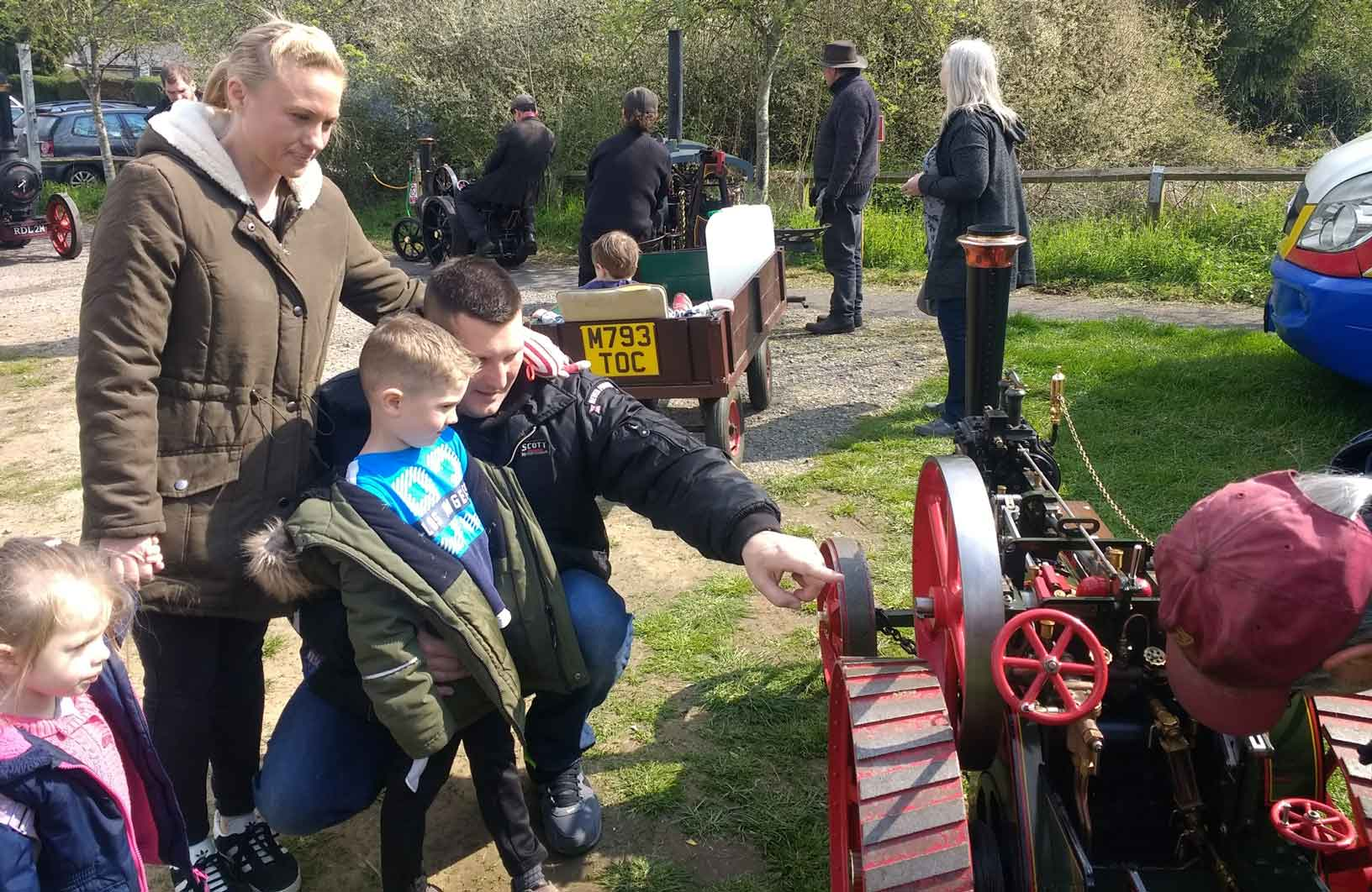 Family with traction engine